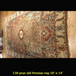 130 year old Persian rug 10' x 14'