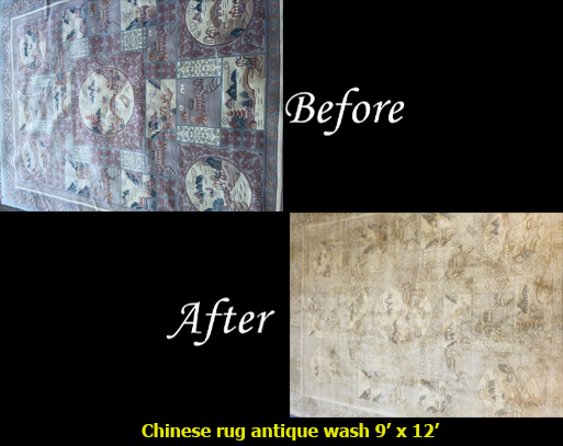 Chinese Rug Antique Wash