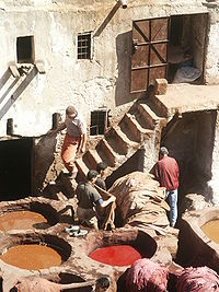 carpet dyeing in Fez